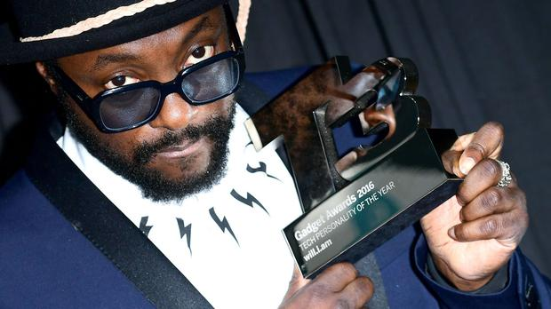 Will.I.Am wins the tech personality of the year at the 10th annual T3 magazine awards