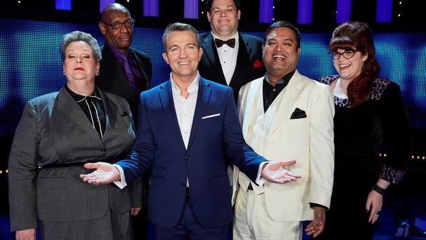 Bradley Walsh with the five Chasers