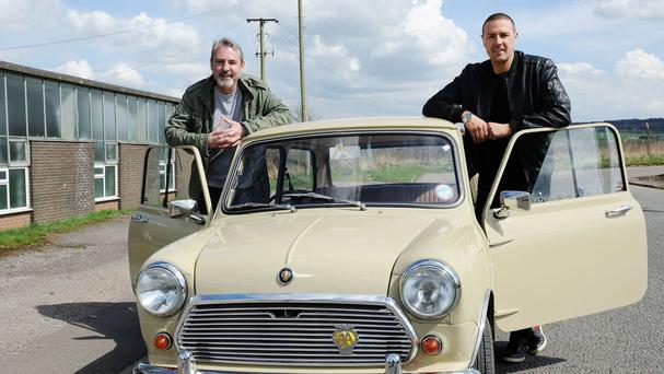 Neil Morrissey joins Paddy McGuinness for Stars In Their Cars (The Travel Channel/PA)