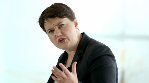 Ruth Davidson said she is jealous of former shadow chancellor Ed Balls's efforts in Strictly Come Dancing