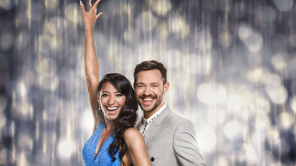 Will Young with his dance partner Karen Clifton (BBC/PA)