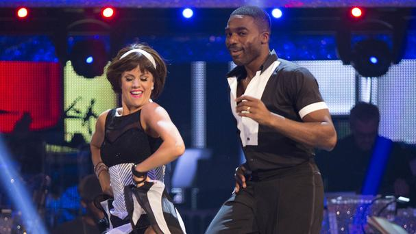 Ore Oduba with dance partner Joanne Clifton during a dress rehearsal
