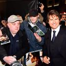 Tom Cruise meets fans in Leicester Square