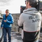 Top Gear host Matt LeBlanc filming the latest series of the popular car show on the Isle of Man (BBC/PA)
