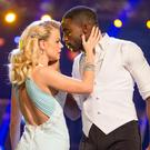 Joanne Clifton and Ore Oduba during Saturday's live edition of Strictly Come Dancing (PA/BBC)