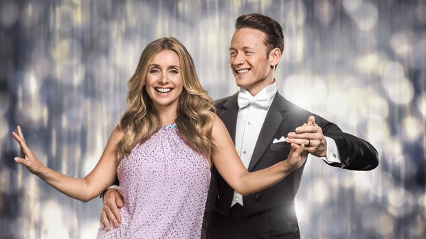 Louise Redknapp with her Strictly dance partner Kevin Clifton (BBC)