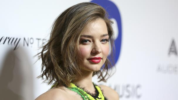 Miranda Kerr rose to fame as a model for Victoria's Secret and was married to actor Orlando Bloom (AP)