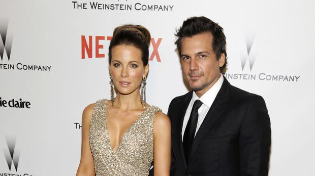 Kate Beckinsale and Len Wiseman pictured in January last year - the couple are to divorce after 12 years of marriage (AP)