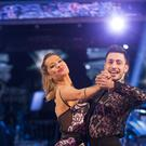 Laura Whitmore with dance partner Giovanni Pernice
