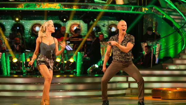 Judge Rinder is paired with professional dancer Oksana Platero on Strictly (BBC/PA)