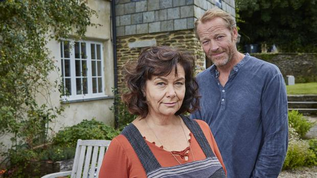Dawn French and Iain Glen in Delicious (Sky/PA)