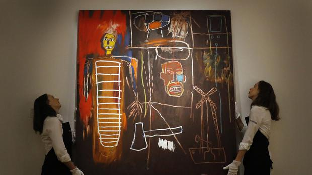 Air Power, by Jean-Michel Basquiat, sold for more than £7 million (AP)