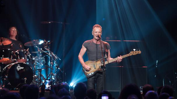 Sting performing at the Bataclan concert hall in Paris (David Wolff Patrick/Universal Music France/PA)