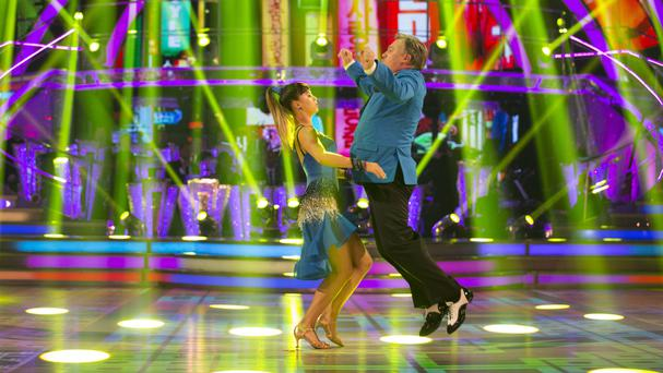 Ed Balls and Katya Jones perform to Psy's Gangnam Style on Strictly Come Dancing