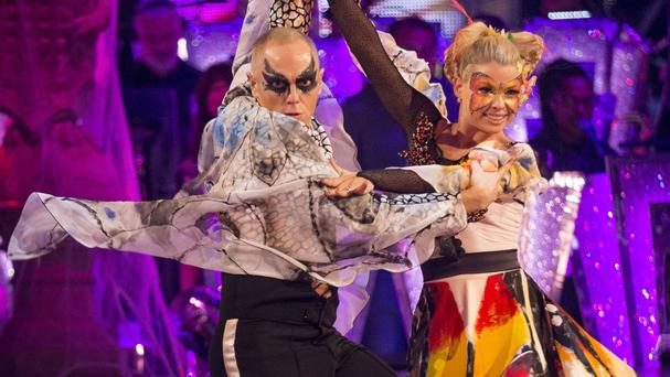 Judge Rinder and Oksana Platero during their performance on Strictly Come Dancing