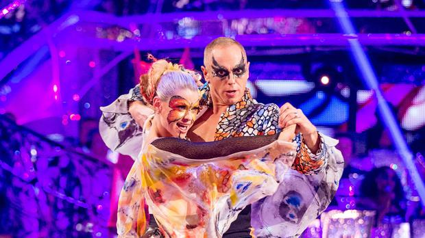 Judge Rinder and Oksana Platero during their performance on Strictly Come Dancing.