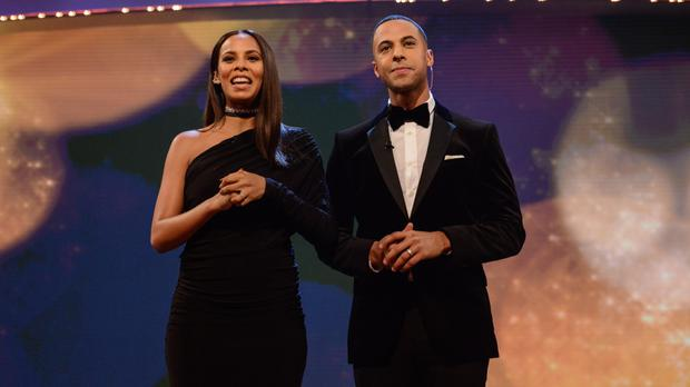Presenters Rochelle and Marvin Humes during BBC Children In Need