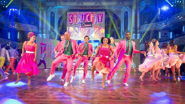 Celebrities show off their footwork on BBC One's Strictly Come Dancing.