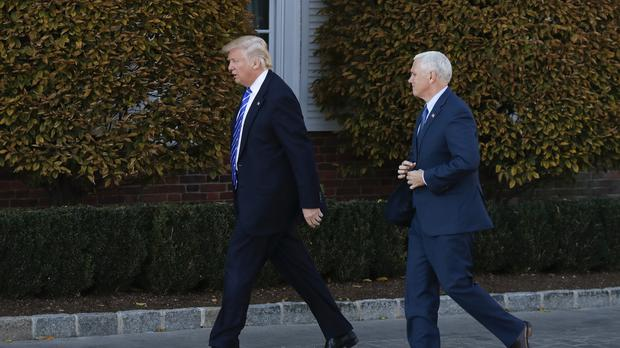 President-elect Donald Trump and Vice President-elect Mike Pence in New Jersey after the row at Hamilton.