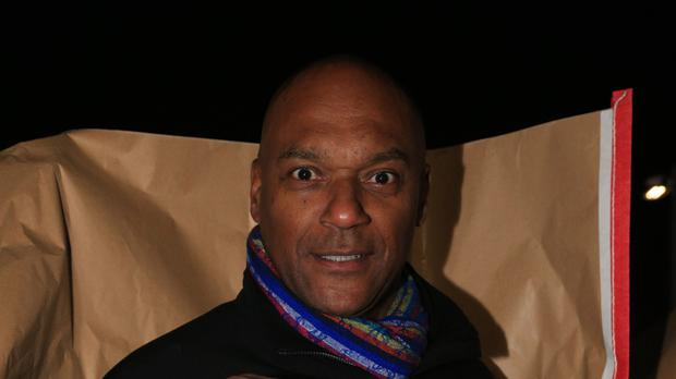 Colin Salmon prepares to take part in the Sleep Out fundraiser