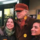 Bob Geldof campaigning in Richmond with Lib Dem candidate Sarah Olney (left)