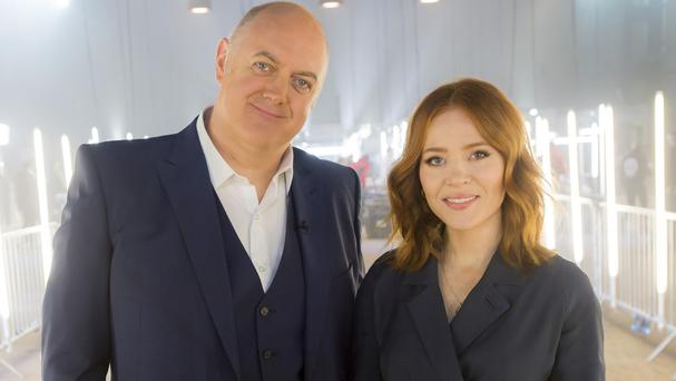 Dara O Briain and Angela Scanlon will present two Robot Wars Christmas specials