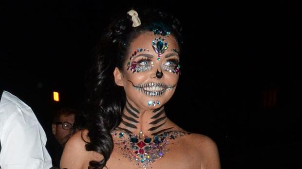 Scarlett Moffatt, who has won I'm A Celebrity ... Get Me Out Of Here! is pictured arriving at a Halloween party
