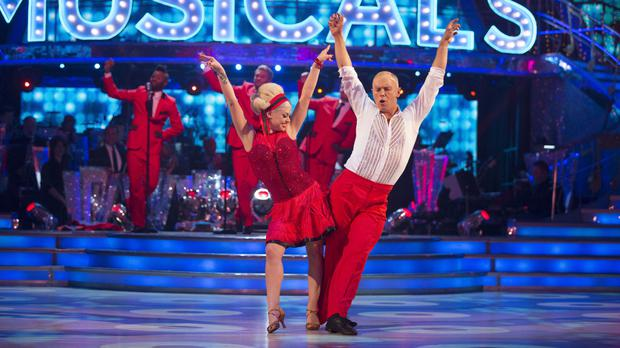 Judge Robert Rinder and his Strictly partner Oksana Platero (BBC/PA)