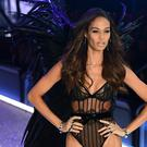 Joan Smalls during the Victoria's Secret show in Paris