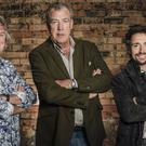 James May, left, promoting new show The Grand Tour with fellow presenters Jeremy Clarkson, centre, and Richard Hammond