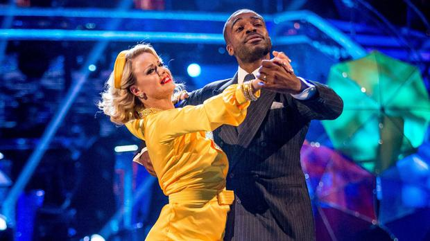 Joanne Clifton and Ore Oduba finished top of the leaderboard, and took home the glitterball trophy (BBC/PA)