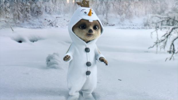 A still from the new Frozen-themed Christmas advert staring Oleg (comparethemarket.com/PA)