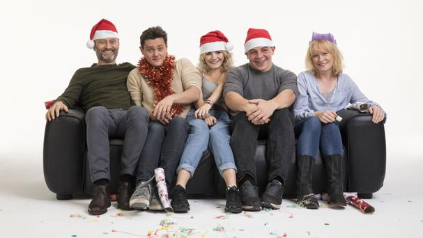 The Brockman family reunite for a special Christmas episode (BBC/PA)