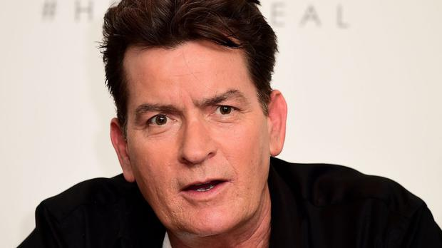 Charlie Sheen was defiant over his Donald Trump tweet