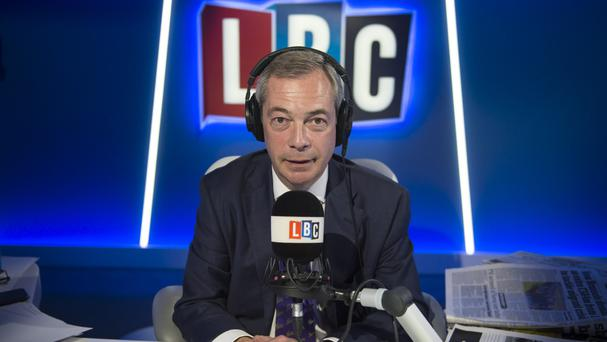 Nigel Farage will host a show for LBC