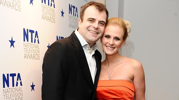 Simon Gregson and his wife Emma