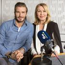 Desert Island Discs presenter Kirsty Young with David Beckham (BBC/PA)