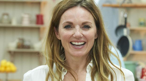 Geri Horner posted a snap on Instagram of her holding her son's foot, hours after his birth on Saturday in which she revealed his name - Montague George Hector Horner