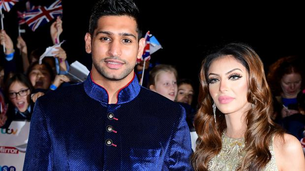 Amir Khan and Faryal Makhdoom attending The Pride of Britain Awards 2016