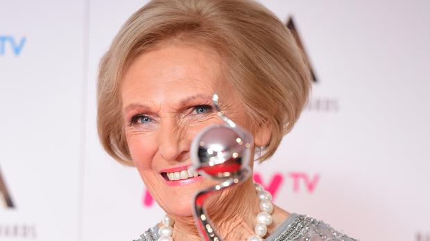 Mary Berry scooped a National Television Award