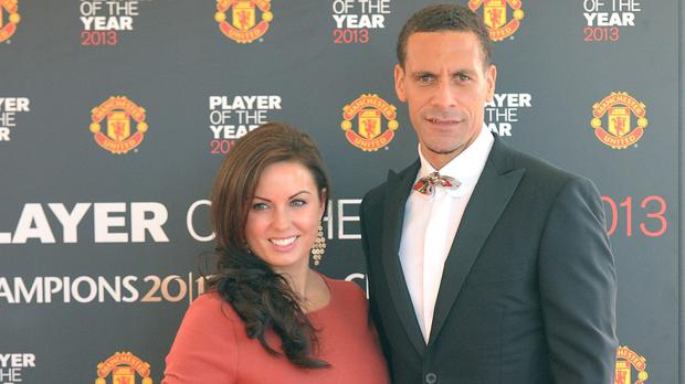 Rio Ferdinand with his wife Rebecca before she died of breast cancer