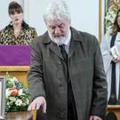 Zak Dingle, played by Steve Halliwell, bids farewell to his estranged wife Joanie Wright (ITV/PA)