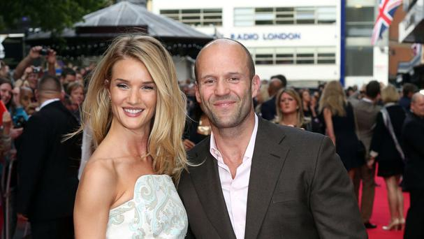 Jason Statham and Rosie Huntington-Whiteley are expecting their first child