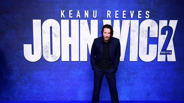 Keanu Reeves attending a gala screening of John Wick: Chapter 2 at Vue West End, Leicester Square, London.