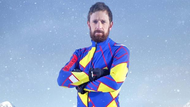 Sir Bradley Wiggins suffered the injury on the snow cross training section of the show