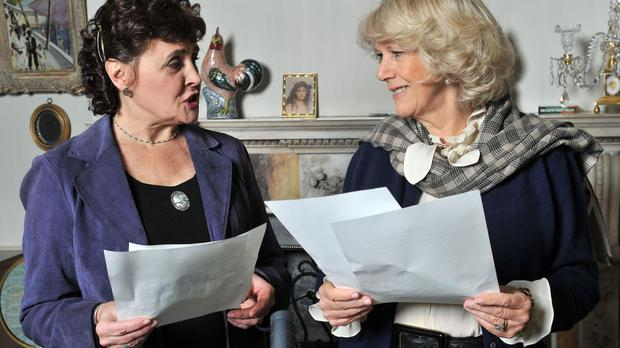 The Archers actress Sara Coward with the Duchess of Cornwall in 2011 (BBC/PA)