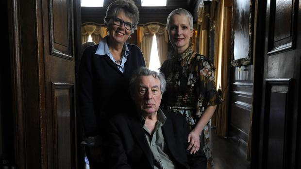Terry Jones with Prue Leith and nutritionist Jane Clarke at the Royal Hospital Chelsea