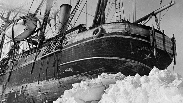Lorraine Kelly will be following in the footsteps of Ernest Shackleton whose ship The Endurance is pictured