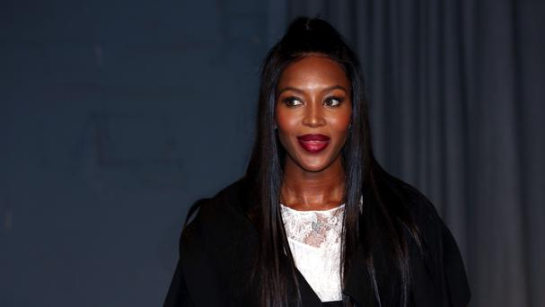 Naomi Campbell attending the Burberry London Fashion Week Show at Makers House