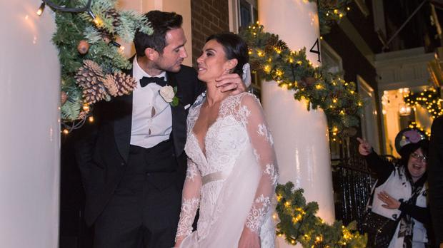 Frank Lampard and Christine at their wedding reception at the Arts Club in Mayfair, London, in 2015
